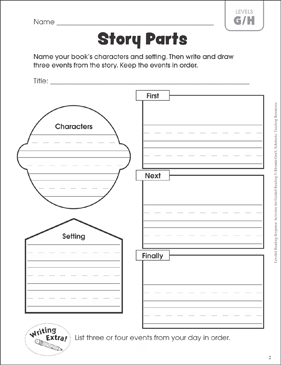 Story Parts (Leveled-Reading G/H): Guided Reading Response ...