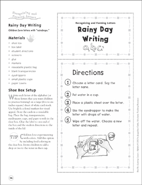 Rainy day essay for kids