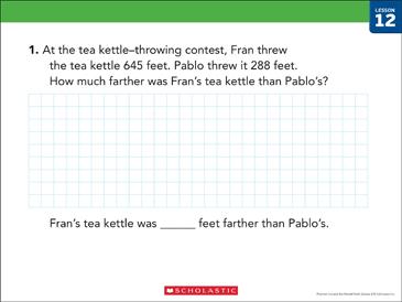 Comparison Subtraction: Bar Model Math | Printable Skills ...