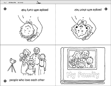photo regarding Printable Mini Book named My Spouse and children Printable Mini-Guides