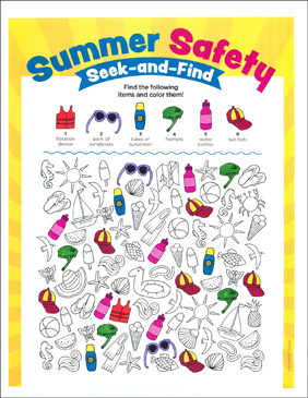 Summer Safety Seek And Find Printable Hidden Pictures