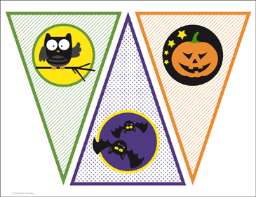 image relating to Printable Halloween Banners known as Clroom Banners for Halloween Printable Charts and Symptoms