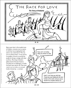 The Race for Love: Greek Myth - Printable Worksheet