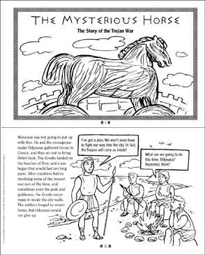 graphic about Horse Worksheets Printable identify The Unknown Horse: Greek Fantasy Printable Mini-Textbooks