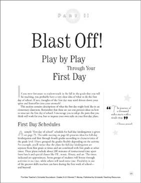Blast Off! (Play by Play Through Your First Day): New Teacher Resources (K-4) - Printable Worksheet