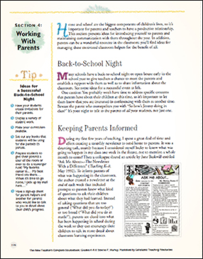 Working With Parents - Printable Worksheet