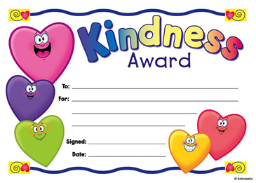 Awesome Kindness Award Fill In Reward Printable Awards Download Free Architecture Designs Scobabritishbridgeorg