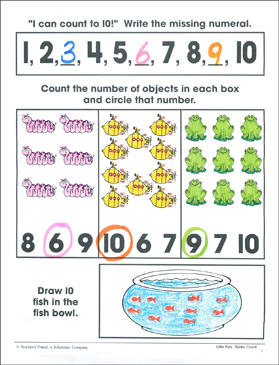 Counting One to Ten: Math Practice Page (Write & Draw) - Printable Worksheet