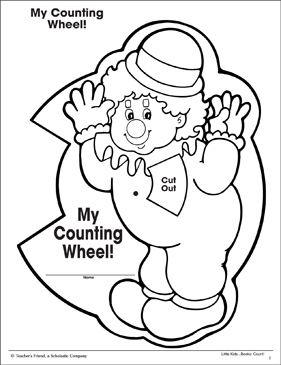 Counting Wheel! Numbers Seven to Twelve:: Math Pattern and Practice - Printable Worksheet
