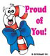 Proud of You! Candy Cane: Mini-Sticker - Image Clip Art