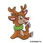 Rudolph the Red-Nosed Reindeer: Mini-Sticker - Image Clip Art