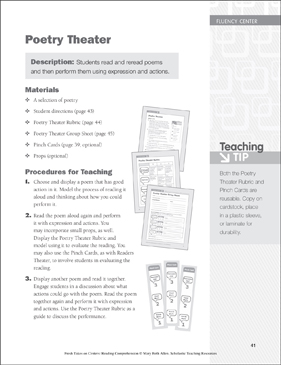 Poetry Theater: Fluency Learning Center - Printable Worksheet