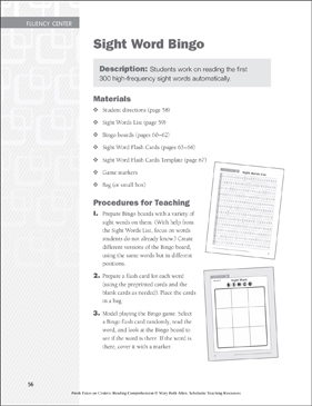 graphic about Sight Word Bingo Printable titled Sight Term Bingo: Fluency Mastering Centre Printable