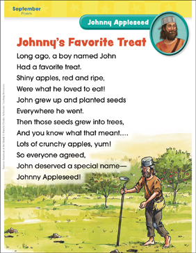 Johnny Appleseed: Famous American - Printable Worksheet