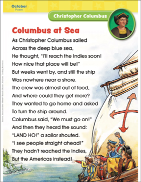 Christopher Columbus: Famous American - Printable Worksheet