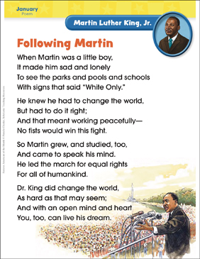 Martin Luther King, Jr.: Famous American - Printable Worksheet