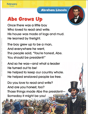 Abraham Lincoln: Famous American - Printable Worksheet