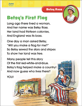 Betsy Ross: Famous American - Printable Worksheet