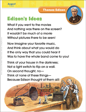 Thomas Edison: Famous American - Printable Worksheet