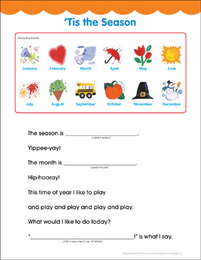 'Tis the Season: Fill-in Fun Page - Printable Worksheet