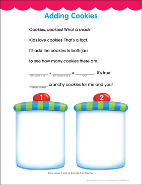 Adding Cookies: Fill-in Fun Page - Printable Worksheet