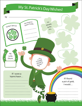 St. Patrick's Day Wishes - Printable Worksheet