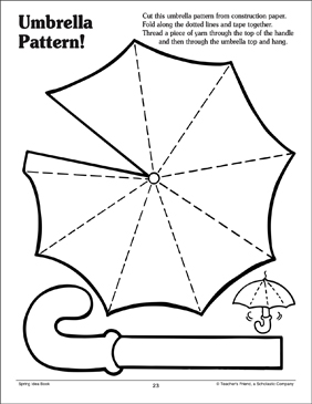 picture about Printable Arts and Crafts titled Umbrella Behavior Printable Arts, Crafts and Expertise Sheets
