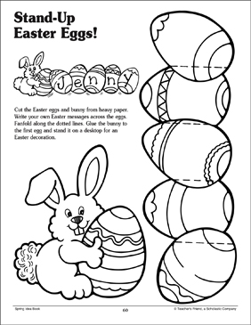 Stand-Up Easter Eggs - Printable Worksheet
