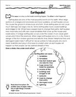 Earthquakes & Tsunamis Worksheets, Printable Activities ...