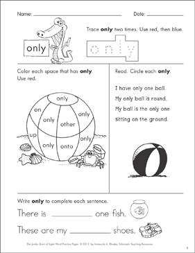 It's just a graphic of Persnickety Sight Word Practice Worksheet