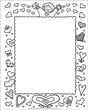 Valentine's Day Stationery - Printable Worksheet