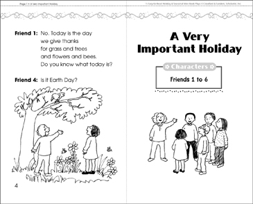 A Very Important Holiday: A Mini-Book Play - Printable Worksheet