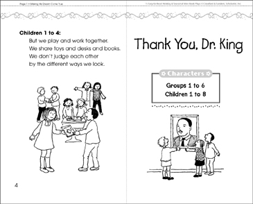 Thank You, Dr. King: A Mini-Book Play - Printable Worksheet