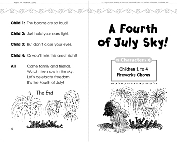 A Fourth of July Sky! Play - Printable Worksheet