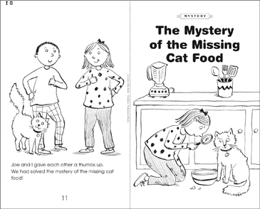 The Mystery of the Missing Cat Food - Printable Worksheet