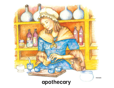 Colonial Apothecary - Image Clip Art