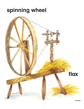 Colonial Spinning Wheel - Image Clip Art