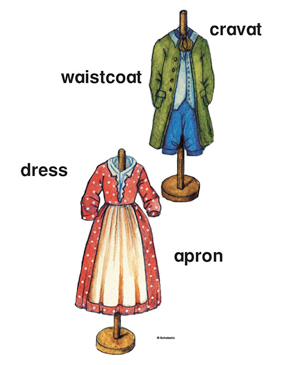 Colonial Clothing - Image Clip Art