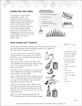Creative Winter Holiday Crafts - Printable Worksheet