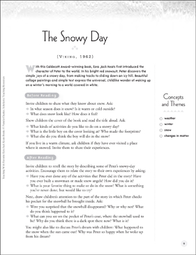 image regarding The Snowy Day Printable named The Snowy Working day: Schooling With Favored Ezra Jack Keats Textbooks