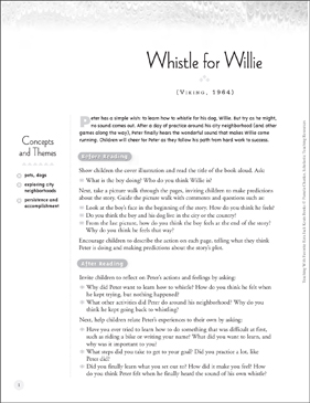 Whistle for Willy: Teaching With Favorite Ezra Jack Keats Books - Printable Worksheet