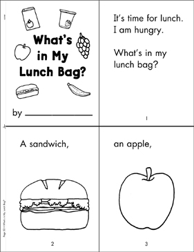 What's in My Lunch Bag?: Literacy Building Booklet - Printable Worksheet