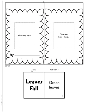 Leaves Fall: Literacy Building Booklet - Printable Worksheet