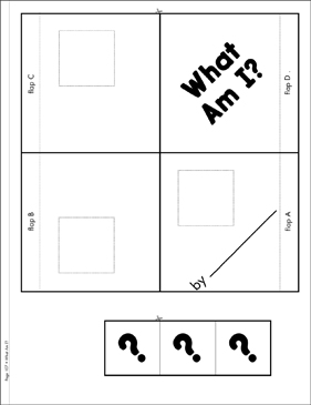 What Am I?: Literacy Building Booklet - Printable Worksheet
