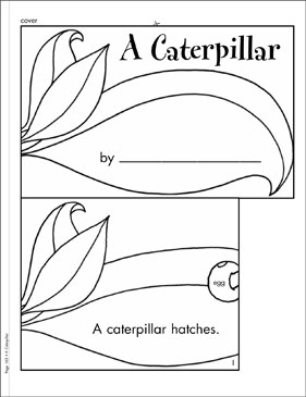 A Caterpillar: Literacy Building Booklet - Printable Worksheet