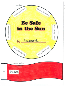 Be Safe in the Sun: Literacy Building Booklet - Printable Worksheet