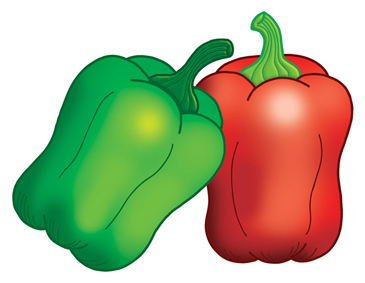 Green and Red Peppers | Printable Clip Art and Images