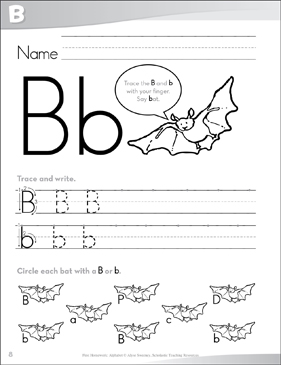 Letter Bb: Send-Home Pages - Printable Worksheet