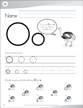 Letter Oo: Send-Home Pages - Printable Worksheet