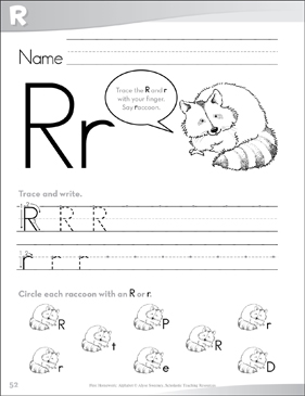 Letter Rr: Send-Home Pages - Printable Worksheet